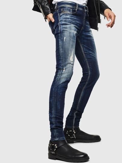 Diesel - Sleenker 0097L, Dark Blue - Jeans - Image 4
