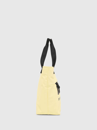 Diesel - F-BOLD SHOPPER II, Light Yellow - Shopping and Shoulder Bags - Image 3