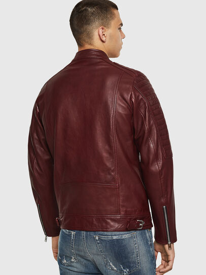 Diesel - L-SHIRO, Bordeaux - Leather jackets - Image 2