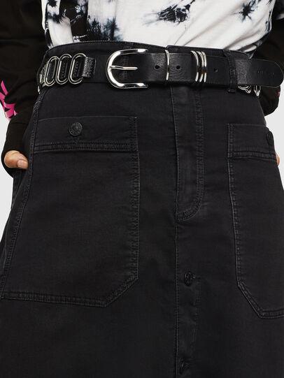 Diesel - D-RHITA JOGGJEANS, Black/Dark grey - Skirts - Image 3