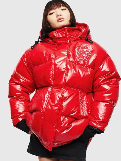 Diesel - CL-W-ALLA-LITM, Red - Winter Jackets - Image 1