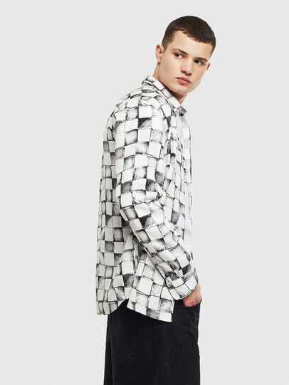 Diesel - S-CLES, White - Shirts - Image 5