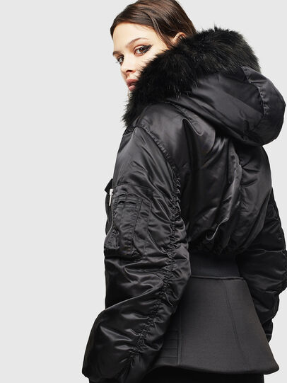 Diesel - W-ISOKE-A, Black - Winter Jackets - Image 5