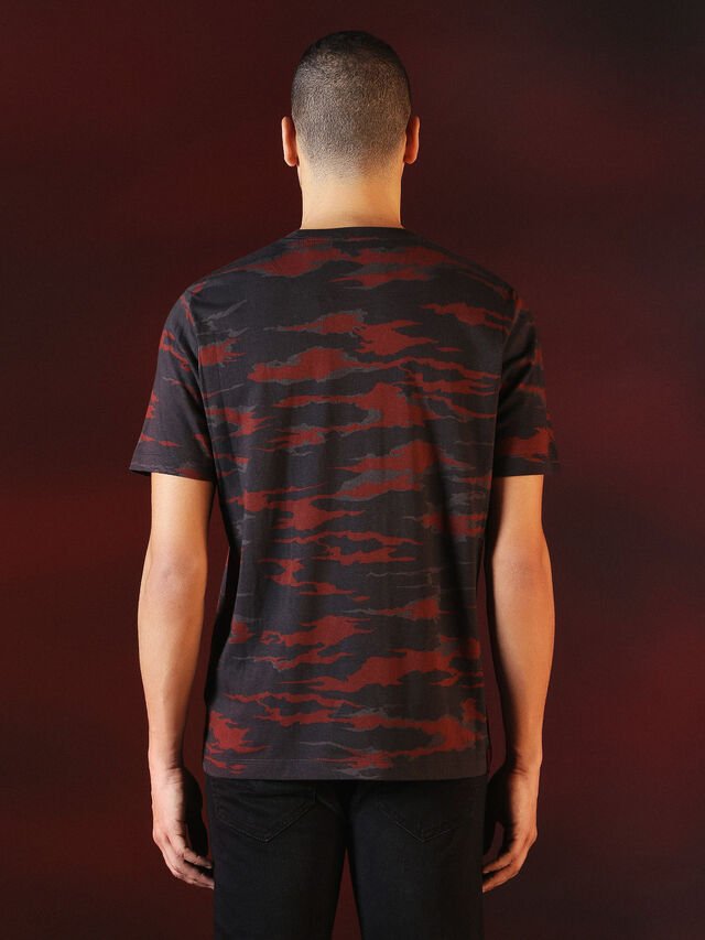 Diesel - DVL-TSHIRT-CAMU-SPECIAL COLLECTION, Red/Black - T-Shirts - Image 2