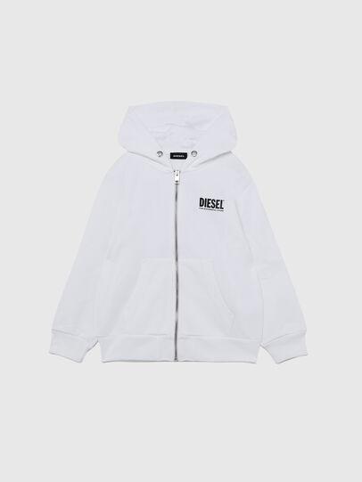 Diesel - SGIRKHOODZIP-LOGO OV, White - Sweaters - Image 1