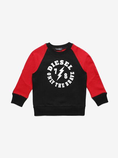 Diesel - STRICKB-R, Black/Red - Sweaters - Image 1