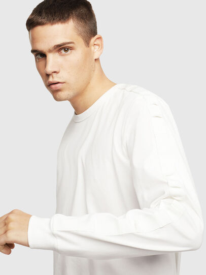 Diesel - T-JUST-LS-BX3, White - T-Shirts - Image 3