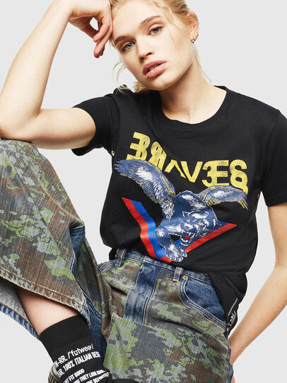 Diesel - T-SILY-WP, Black - T-Shirts - Image 4