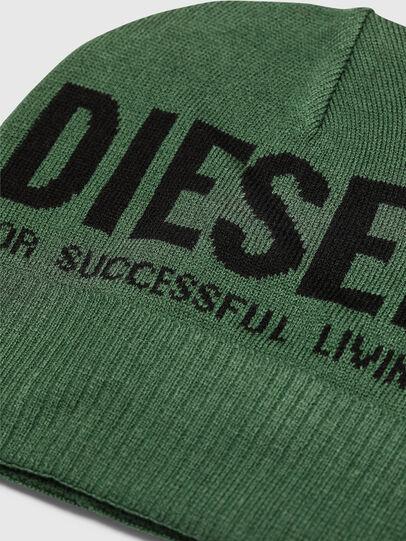 Diesel - K-BECKY-B, Dark Green - Knit caps - Image 3