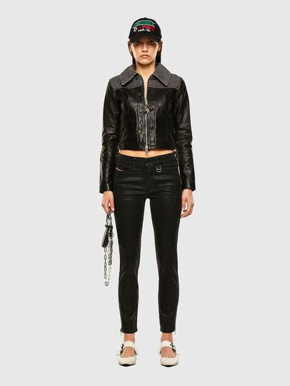Diesel - L-LYLE, Black - Leather jackets - Image 5