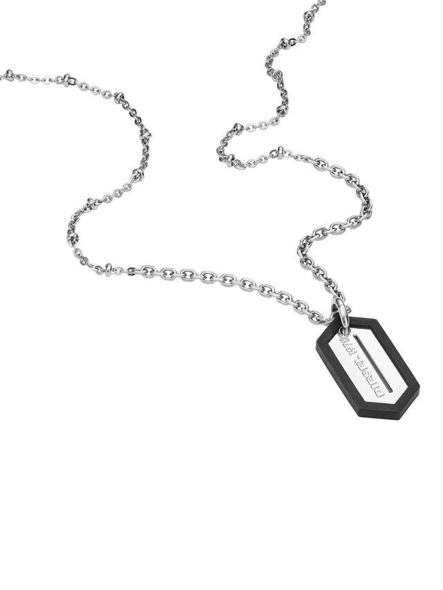 Diesel - NECKLACE DX0995, Silver - Necklaces - Image 2