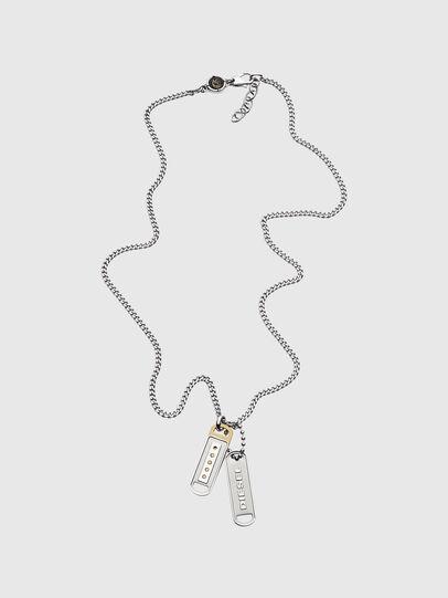 Diesel - DX1213, Silver - Necklaces - Image 1