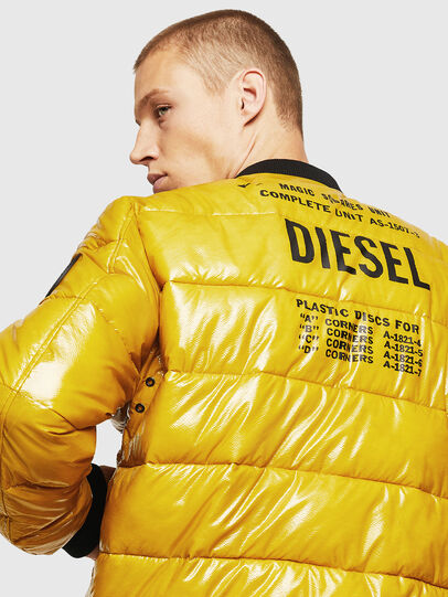 Diesel - W-ON, Yellow - Winter Jackets - Image 5