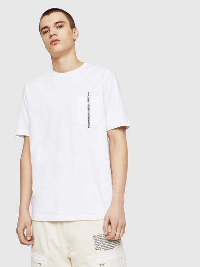 Diesel - T-JUST-POCKET-COPY, White - T-Shirts - Image 1