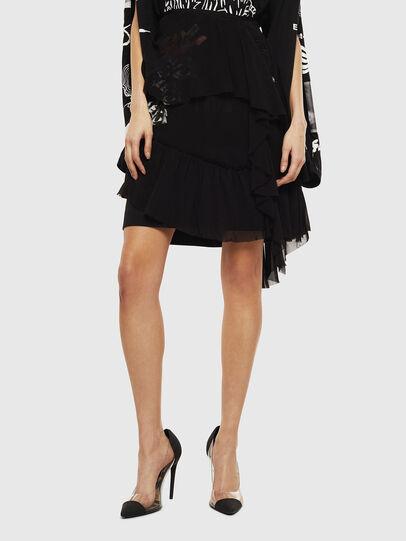 Diesel - O-BURNETT, Black - Skirts - Image 1