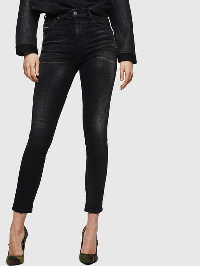 Diesel - Babhila High 0092B, Black/Dark grey - Jeans - Image 1