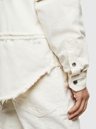 Diesel - D-KURTIS, White - Denim Shirts - Image 4
