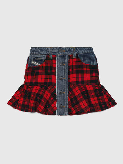 Diesel - GBETY, Red/Black - Skirts - Image 1