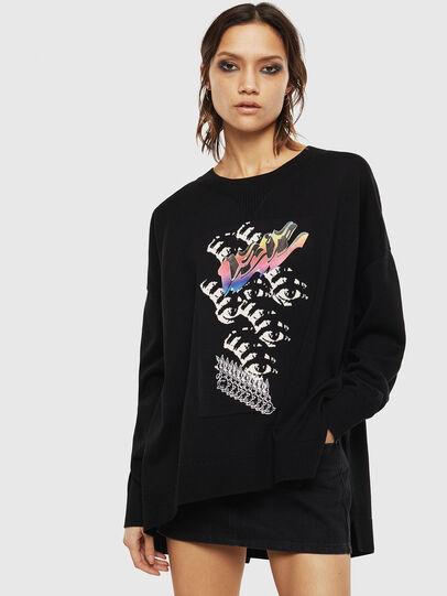 Diesel - M-OCIAME, Black - Knitwear - Image 1