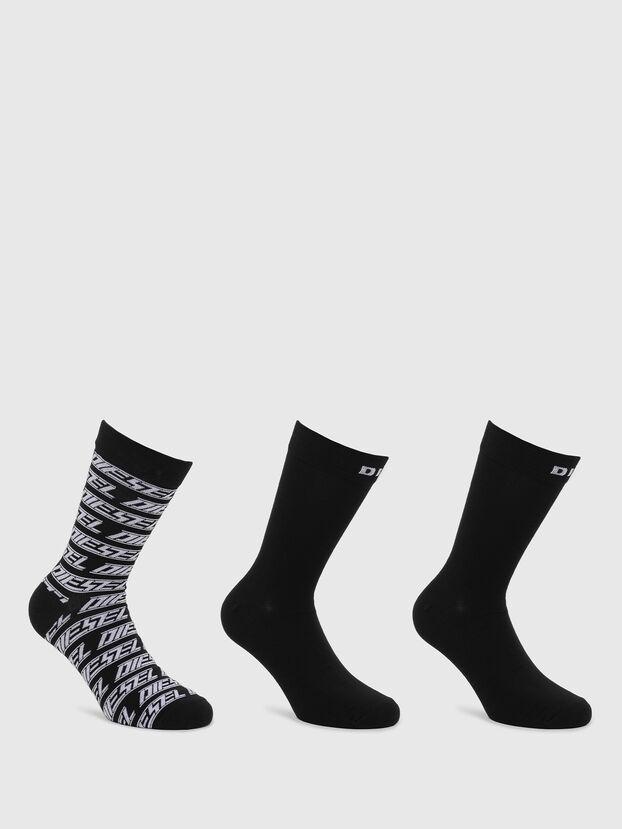 SKM-RAY-THREEPACK, Black - Socks