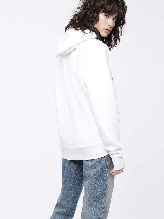 Diesel - F-ALBY-FL-A, White - Sweaters - Image 2