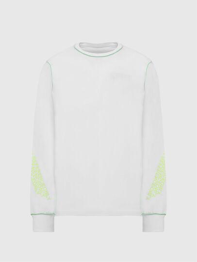 Diesel - T-JUSEAM-LS, White - T-Shirts - Image 1