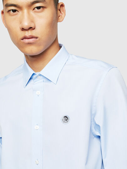 Diesel - S-BILL, Light Blue - Shirts - Image 3