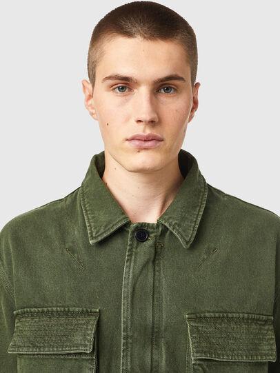Diesel - D-NOVO-SP, Olive Green - Denim Jackets - Image 3