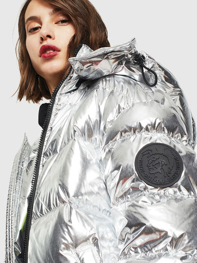 Diesel - W-SMITH-SILVER, Silver - Winter Jackets - Image 5