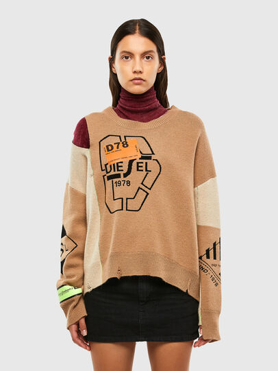 Diesel - M-ALYCIA, Beige - Knitwear - Image 1