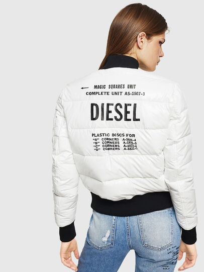 Diesel - W-ONY, White - Winter Jackets - Image 2