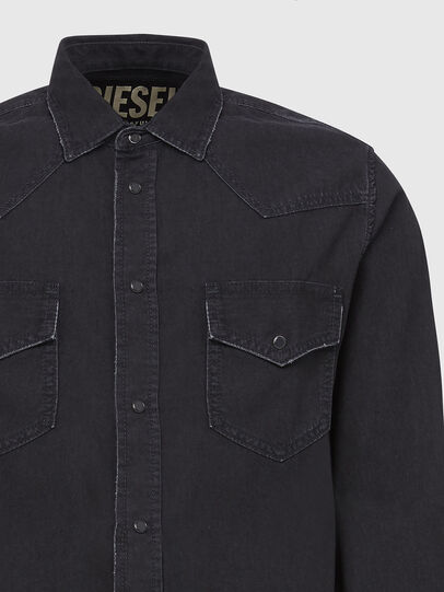 Diesel - D-EAST-P, Black - Denim Shirts - Image 3