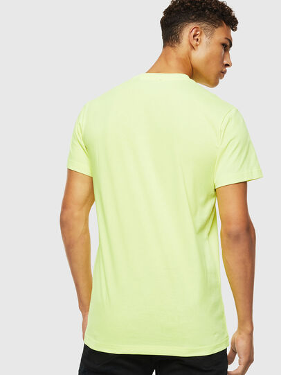 Diesel - T-DIEGO-J4, Yellow Fluo - T-Shirts - Image 3