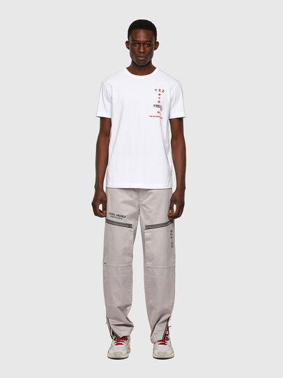 Diesel - T-DIEGOS-B4, White - T-Shirts - Image 4