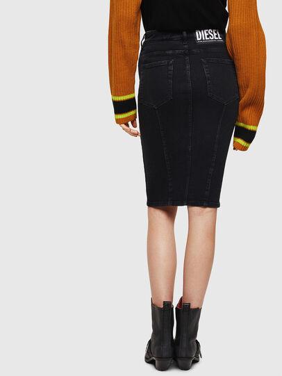 Diesel - DE-PENCIL-ZIP, Black - Skirts - Image 2
