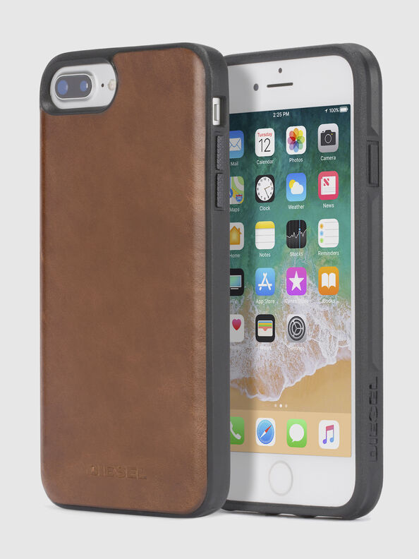 BROWN LEATHER IPHONE X CASE,  - Cases