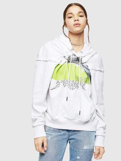 Diesel - F-ALBYHOOK, White - Sweaters - Image 1