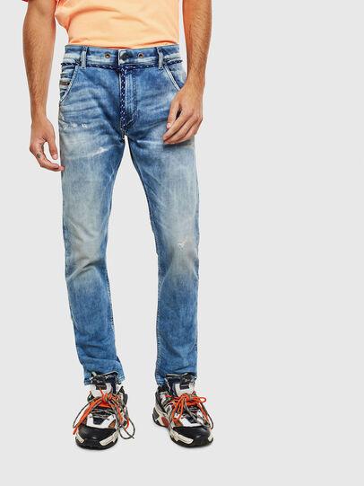 Diesel - Krooley JoggJeans 0099Q, Medium blue - Jeans - Image 1
