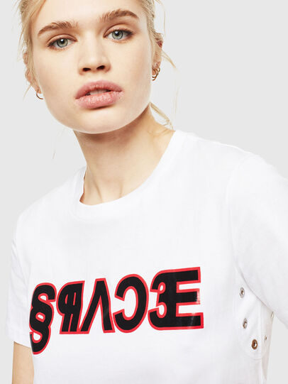 Diesel - T-SILY-WO, White - T-Shirts - Image 3