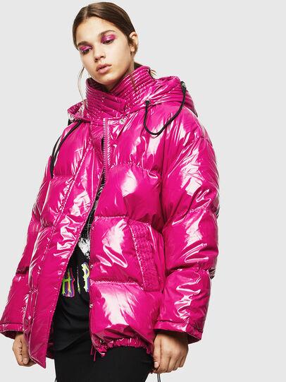 Diesel - W-ALLA, Pink Fluo - Winter Jackets - Image 4