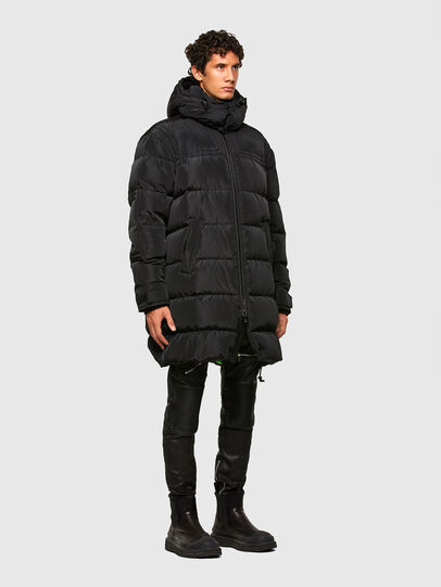 Diesel - W-RUSSELL-LONG, Black - Winter Jackets - Image 7