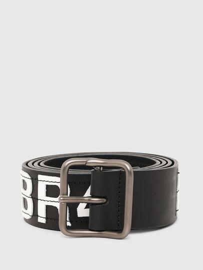 Diesel - B-R4V3, Black/White - Belts - Image 1