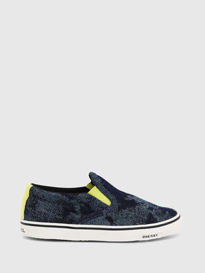 SN SLIP ON 01 LC CH, Blue - Footwear