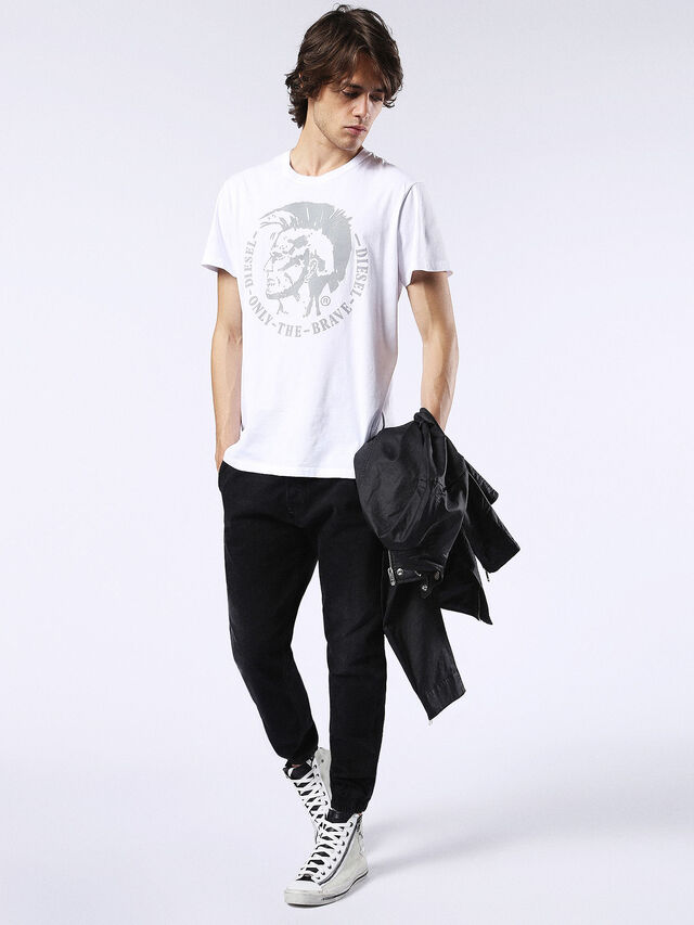 Diesel - T-DIEGO-FO, White/Silver - T-Shirts - Image 4