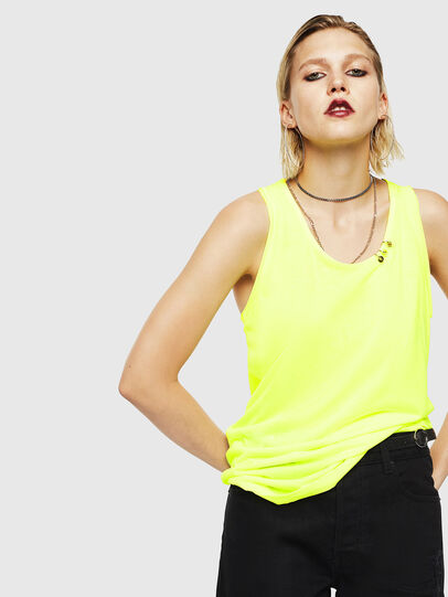 Diesel - T-KELLY, Yellow Fluo - Tops - Image 1