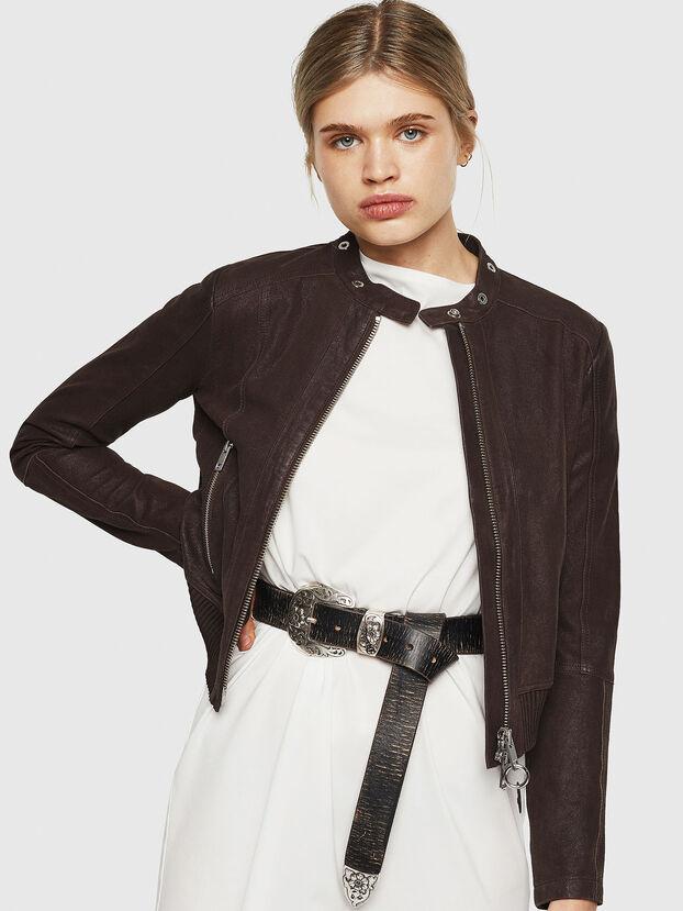 L-LYSSA-G, Brown - Leather jackets