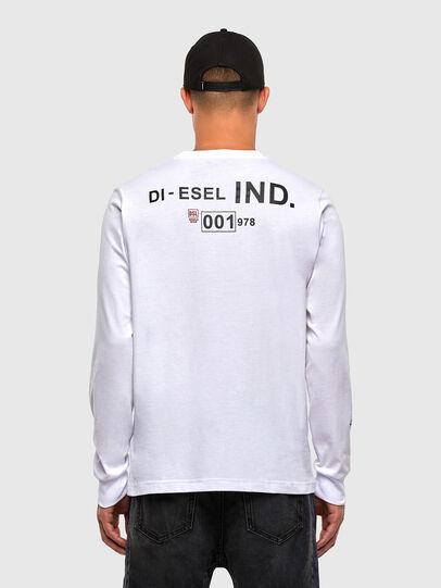 Diesel - T-JUST-LS-N62, White - T-Shirts - Image 2