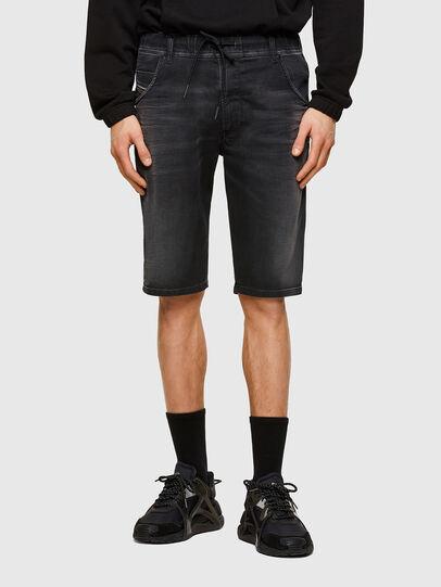 Diesel - D-KROOSHORT JOGGJEANS, Black - Shorts - Image 1