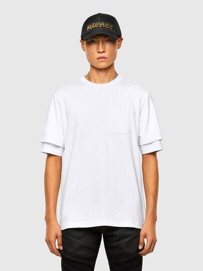 Diesel - T-FONTAL, White - T-Shirts - Image 1