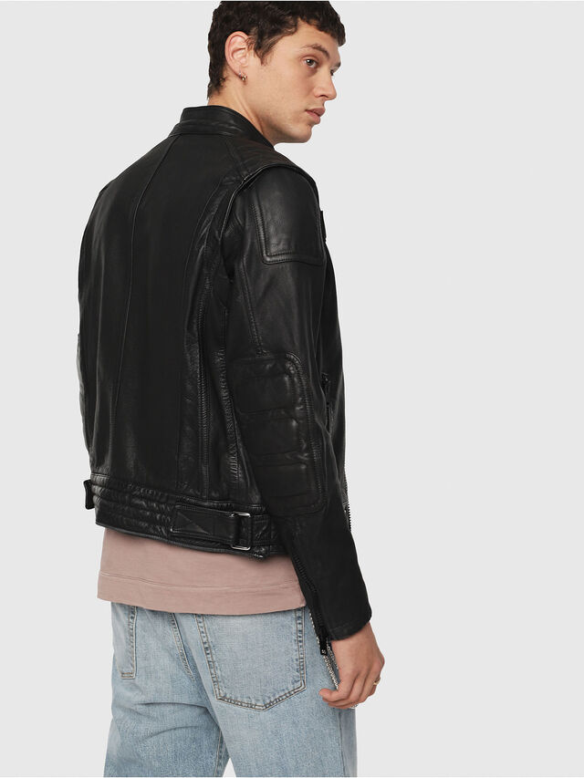 Diesel - L-YUJA, Black Leather - Leather jackets - Image 2